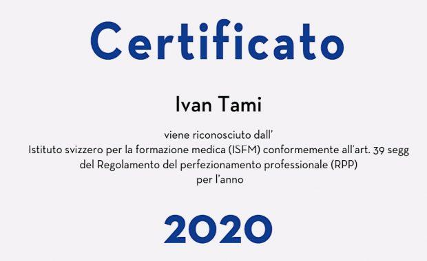 Certificato 2020